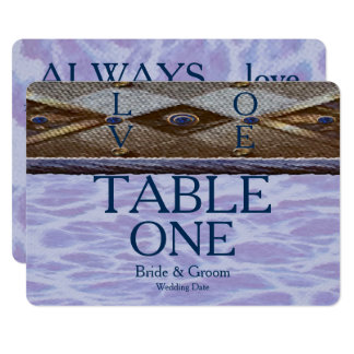 Blue Bayview Love Table Card