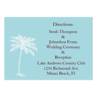 Blue Beach Getaway Direction Cards Pack Of Chubby Business Cards