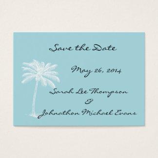Blue Beach Getaway Mini Save The Date Cards