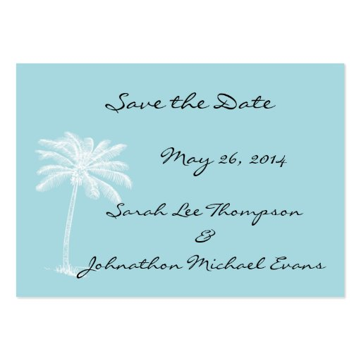 Blue Beach Getaway Mini Save The Date Cards Business Card Template