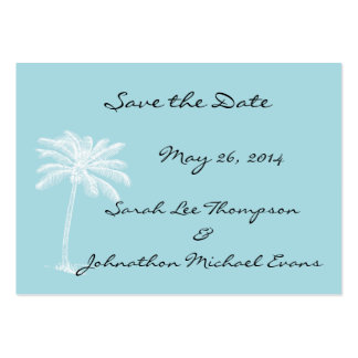 Blue Beach Getaway Mini Save The Date Cards Pack Of Chubby Business Cards