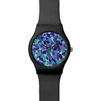 "Blue ""beach glass"" design watch"