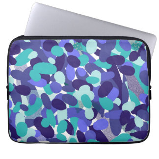 "Blue ""beach glass"" neoprene laptop case"