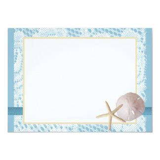Blue Beach Lace Sand Dollar Thank You Card