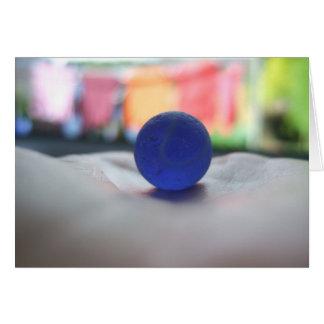 Blue beach marble card! Colourful beachcomber card