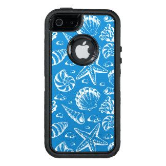 Blue Beach Pattern OtterBox Defender iPhone Case