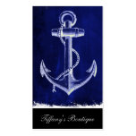 blue beach rustic shabby chic nautical anchor pack of standard business cards