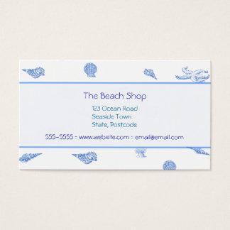 Blue Beach Seashells Business Cards