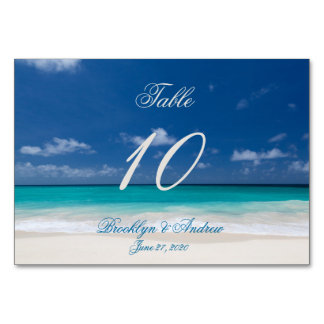 Blue Beach Wedding Place Cards Table Cards Table Cards