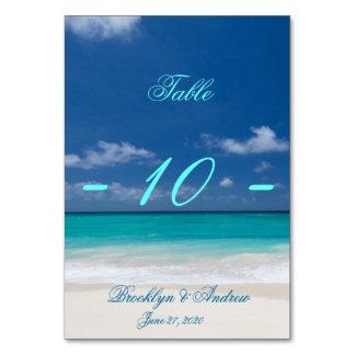Blue Beach Wedding Table Cards Table Cards
