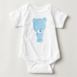 Blue Bear Baby Jersey Bodysuit