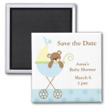 Blue Bear Baby Shower Save the Date