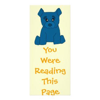 Blue Bear Bookmark Template Personalised Rack Card