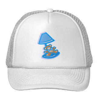 blue bear lamp cap