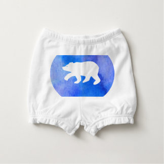 Blue bear nappy cover