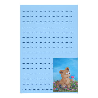blue bear personalised stationery