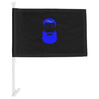Blue Beard Car Flag