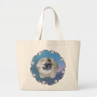 Blue Beauty Large Tote Bag