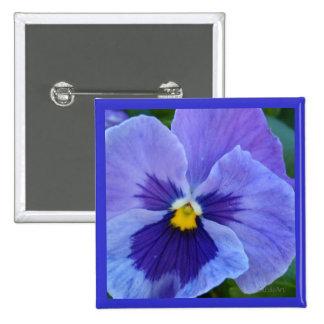 Blue Beauty Pansy Pin