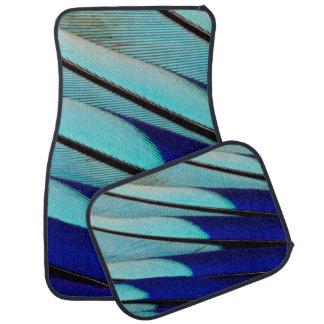 Blue-bellied Roller feathers Floor Mat