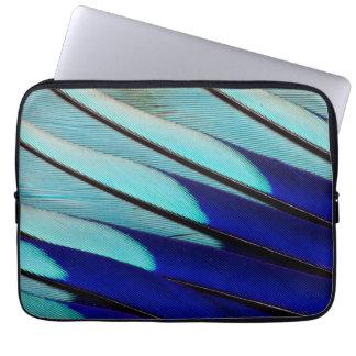 Blue-bellied Roller feathers Laptop Sleeve