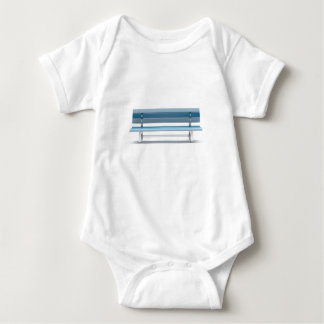 Blue bench baby bodysuit