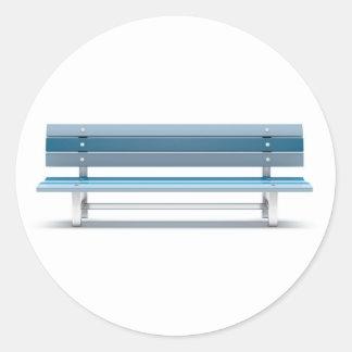 Blue bench classic round sticker