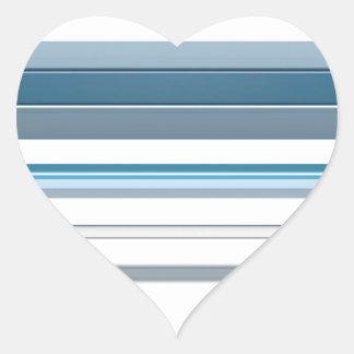 Blue bench heart sticker