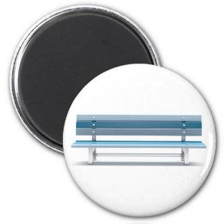 Blue bench magnet