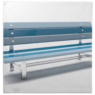 Blue bench napkin