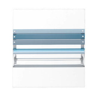 Blue bench notepad