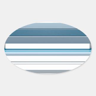 Blue bench oval sticker