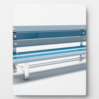 Blue bench plaque