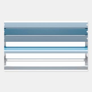 Blue bench rectangular sticker