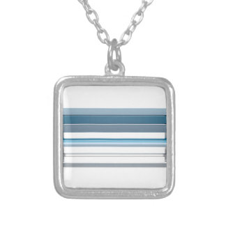 Blue bench silver plated necklace
