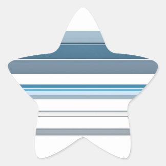 Blue bench star sticker