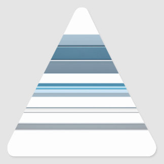 Blue bench triangle sticker