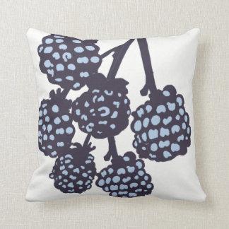 Blue Berries Blossom Decor#8a Modern Throw Pillow