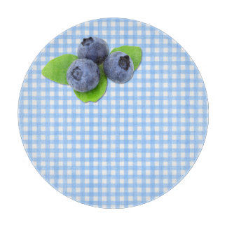 Blue Berries on Gingham Cutting Board