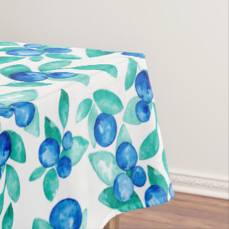 Blue berries watercolor design tablecloth