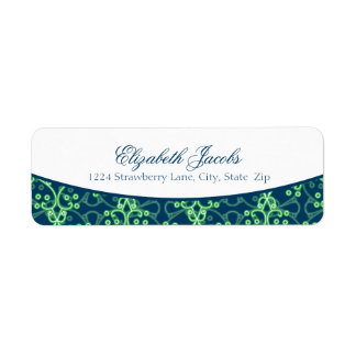 Blue Berry Cluster Return Address Labels