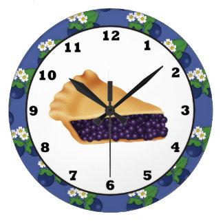 Blue Berry Pie sweet treat wall clock
