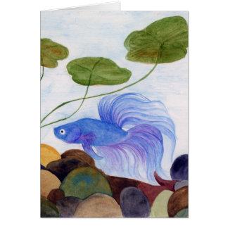 Blue Betta Fish Card