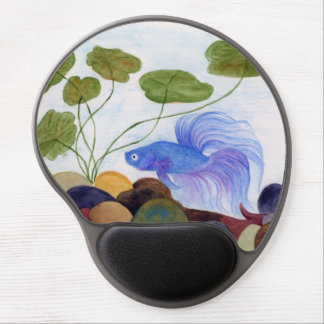 Blue Betta Fish Gel Mouse Pad