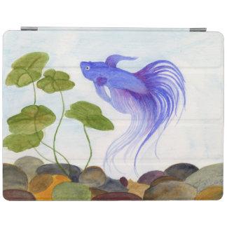 Blue Betta Fish iPad Cover