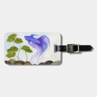 Blue Betta Fish Luggage Tag