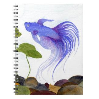 Blue Betta Fish Notebook