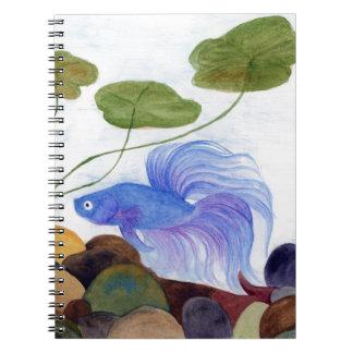 Blue Betta Fish Notebooks
