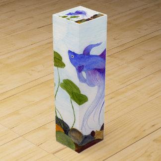 Blue Betta Fish Wine Box