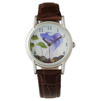 Blue Betta Fish Wrist Watch